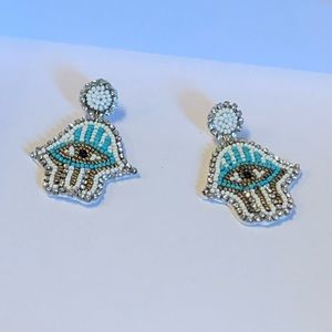 Hamsa Beads Earring